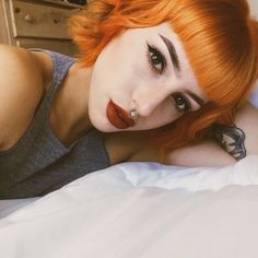 That hair color! Dye My Hair, Your Hair, Corte Y Color, Coloured Hair, Rainbow Hair, Ginger Hair, Hair Day, Pretty Hairstyles, Latest Hairstyles