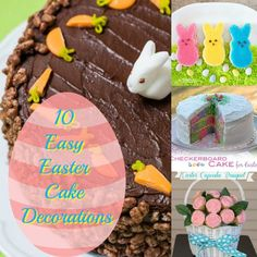 10 Easy Easter Cake Decorations; Easter; Cakes; Cupcakes; Peeps