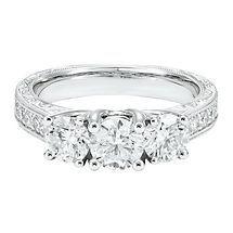 2 ct. tw. Three-Stone Diamond Ring in 14K Gold