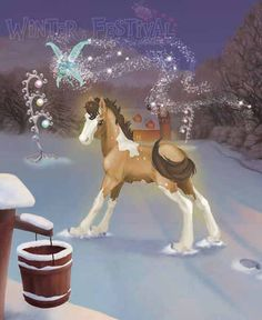 Bella Sara Winter Festival Horses - Bing Images Horse Cards, Winged Horse, Winter Festival, Mane N Tail, Horse Drawings, Pretty Horses, Magical Creatures, Animals Beautiful, My Little Pony