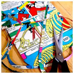 Mini Diy : Party paper decoration from old comic book by mskogly, via Flickr #pinhonest