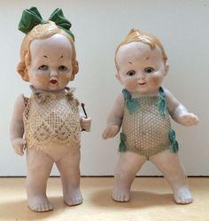 Porzellan oder Keramik Steiff 2 ältere Puppen