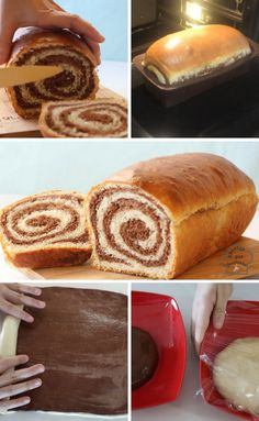 Pan de chocolate en espiral Bread Recipes, Cooking Recipes, Bread And Pastries, Sweet Bread, Cupcake Cakes, Cupcakes, Sweet Recipes, French Toast, Bakery