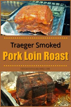 Traeger Smoked Pork Loin Roast (seasoned with dry rub spices) tastes amazing right off the smoker, OR as a tasty pulled pork sandwich, coated in BBQ sauce! / The Grateful Girl Cooks!