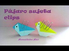 Origami - Papiroflexia. Pájaro para sujetar los clips