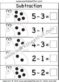 Subtraction Within 5 – One Worksheet / FREE Printable Worksheets – Worksheetfun Subtraction Kindergarten, Subtraction Worksheets, Kindergarten Math Worksheets, Maths, Free Printable Math Worksheets, Free Printables, Free Math, Homeschooling, Numbers