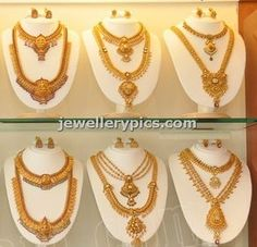 gold haram designs - Latest Jewellery Designs