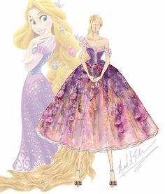 Un designer recrée les robes des princesses Disney en version haute couture!