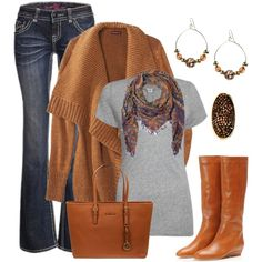 Caramel Colors for Fall, created by smores1165 on Polyvore
