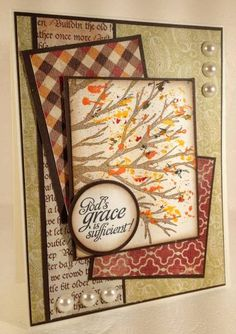 "** ""God's Grace""   Cards and Paper Crafts by schofield27 @Splitcoaststampers"