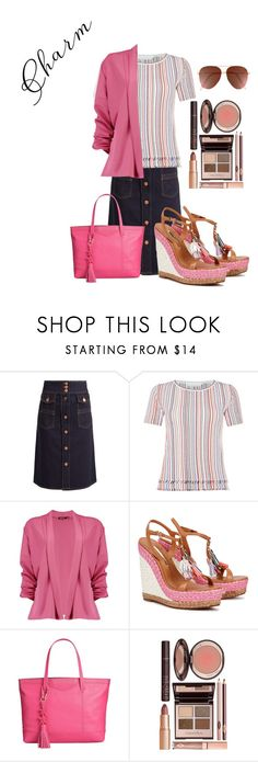 """""""Charming"""" by dashiell32309 on Polyvore featuring See by Chloé, GUESS, HUGO, Boohoo, Sophia Webster, Tommy Hilfiger, Charlotte Tilbury and Victoria Beckham"""