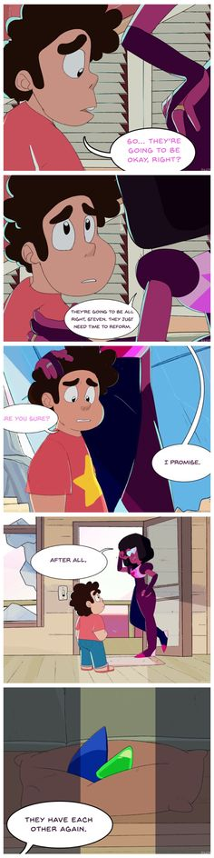 #stevenuniverse #lapidot Kids Shows, Tv Shows, Super Saiyan Hair, Garnet Steven, Universe Love, Steven Universe Memes, Lapidot, Quality Memes, Comic Panels