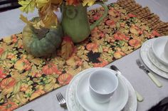 Fall Inspired Table runnerReversible....free by DebbieCalif, $25.00