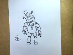 Como desenhar o Freddy - Five Nights at Freddy's