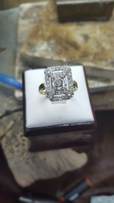 Art deco handmade and set with cz