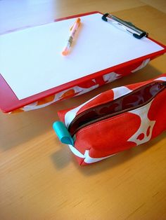 easy diy - lap desk and pencil case by emrichkh, via Flickr