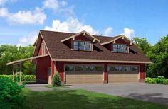 Garage Plan chp-48602 at COOLhouseplans.com