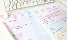 planning, télécharger, imprimer, gratuit, organisation, liste, procrastination…