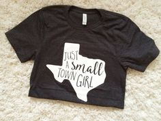 Small Town Girl Texas Print Graphic Tee Beyond the blank - find your blank tee at www.clothingshoponline.com