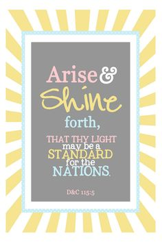 """""""Arise and bring in the new day!"""""""