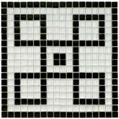 SomerTile 12x12-in Reflections Greek Key 0.5-in Ice Mural Mosaic Tile