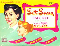 Vintage Hairstyles Collage Candy: Vintage packaging: ladies and their hairnets