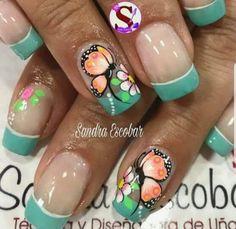 Butterflies, Nail Designs, Mary, Nail Art, Nails, Work Nails, Decorations, Pretty Toe Nails, Finger Nails