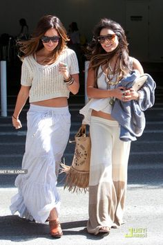 "Love the cool , boho style. Vanessa Hudgens and Ashley Tisdale! :) is 5'3"" and Vanessa is 5'1"""
