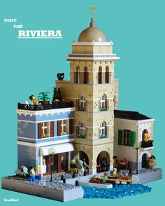A European influenced MOC consisting of a Wedding shop, a bell tower and a restaurant underneath with seating around the Marina. I attempted a more 'aged' appearance with this MOC, especially on the bell tower. I was mainly inspired by a photo I saw on the cover of a book which my parents brought back from a European trip, the archway with a walk through around a marina really stood out to me as something that might be fun to build. The rest of the build is improvised. Bonus points for…