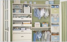 Nursery Closet Organization - PIP gets bonus points :)
