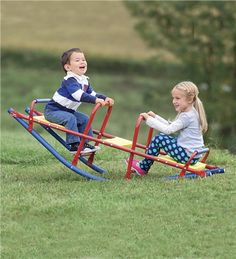 Durable Weather-Resistant Metal Rocking Seesaw $79.98 from Hearth Song