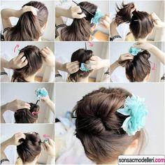 pratik saç toplama şekilleri