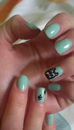 My very first own nail-art animal *.*