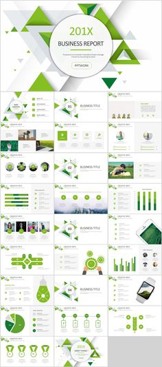 0ffe9f1e37a06 27+ Green business Dynamic PowerPoint Presentations tem on Behance  Infographic Template Powerpoint