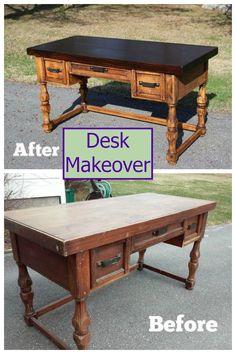 Beautiful desk makeover