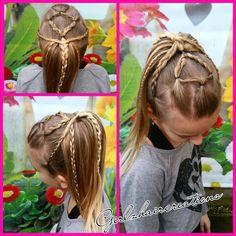 wished my Kate had long hair. She loves braids this would look beautiful in her blond hair