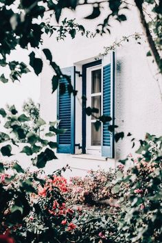 home design exterior. the shutters are such a beautiful jewel tone. Exterior Paint, Exterior Design, Interior And Exterior, Studio Decor, Beautiful Homes, Beautiful Places, Architecture, My Dream Home, Home And Garden