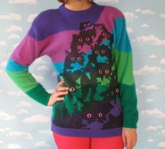 Cats! i bought one of these sweaters!