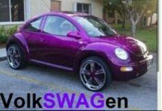 I should paint Atomic Betty this color. Purple Punch, Purple Love, All Things Purple, Shades Of Purple, Purple Cars, Purple Stuff, Volkswagen New Beetle, Beetle Bug, Vw Beetles
