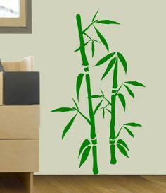 Vinyl Wall Decal Bamboo Design XXXL Matte By SheynStudio On Etsy - Vinyl wall decals bamboo