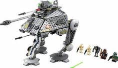 Lego Star Wars AT-AP 75043 At the Battle of Kashyyyk, Clone Commander Gree and Chief Tarfful open the top hatch of the heavily armored AT-AP and jump in. With an elevating blaster cannon, new rotating top-mounted, spring-loaded http://www.comparestoreprices.co.uk//lego-star-wars-at-ap-75043.asp