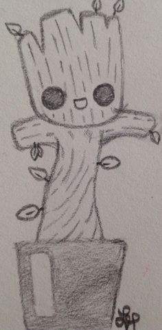 , Baby Groot gardians of the galaxy by Wolf Lyly not the original art galaxy gardi. , Baby Groot gardians of the galaxy by Wolf Lyly not the original art galaxy gardians groot not original art Baby Groot gardians of the galaxy . Easy Drawings Sketches, Cute Easy Drawings, Cool Art Drawings, Pencil Art Drawings, Disney Drawings, Gardians Of The Galaxy, Baby Groot Drawing, Galaxy Painting, Galaxy Art