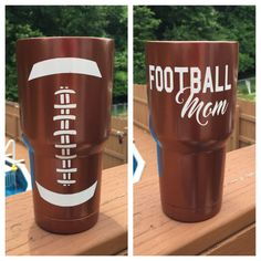 Yeti or Ozark Trail Football Mom stainless tumbler The is a powder coated design on your choice of stainless steel tumblers The colors will be brown and white Cup includes a lid with a drink thru hole You can choose from a Yeti, Rtic or Ozark trail cup Football Banquet, Football Cheer, Football Moms, Football Things, Football Season, Football Player Gifts, Football Mom Shirts, Softball Gifts, Cheerleading Gifts