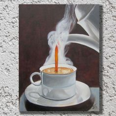 Buy Cup of coffee, Oil painting by Ira Whittaker on Artfinder. Discover thousands of other original paintings, prints, sculptures and photography from independent artists.