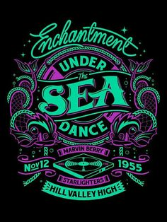 """""""Enchantment Under the Sea Dance,"""" typography poster designed by Simon Pearce, via Behance. Typography Letters, Typography Poster, Graphic Design Typography, Lettering Design, Japanese Typography, Gfx Design, Design Art, Logo Design, Type Design"""