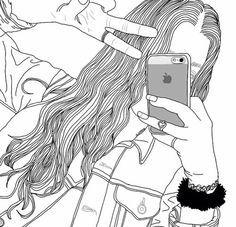 girl drawing black and white Tumblr Girl Drawing, Tumblr Sketches, Tumblr Drawings, Tumblr Art, Tumblr Girls, Drawing Sketches, Basic Drawing, Drawing Art, Tumblr Outline
