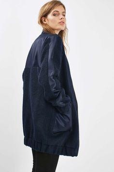 Wool Satin Hybrid Coat - Jackets & Coats - Clothing - Topshop Europe