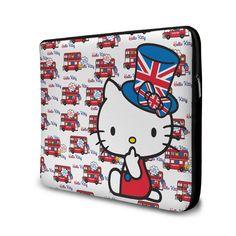 #hellokitty - Capa de Notebook Hello Kitty - London Bus