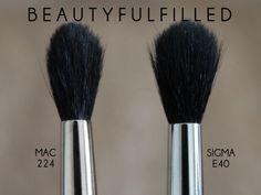MAC 224 brush = Sigma e40 - crease blending brush dupe