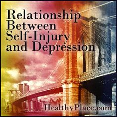 Articles on the relationship between self-injury, self-harm and depression. Get help for self-injury and depression. Find out how.